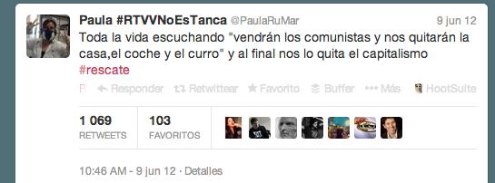 Paula #RTVVNoEsTanca  PaulaRuMar  en Twitter
